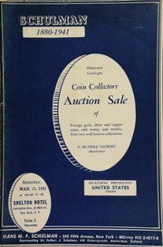Coin collectors auction sale of foreign gold, silver and copper coins, odd money and medals, from two well-known collections, ... [also] including important United States coins ... [03/15/1941]