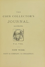 Coin Collector's Journal, vol. 7