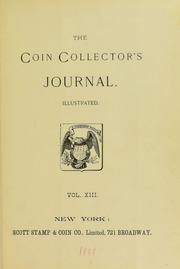 Coin Collector's Journal, vol. 13