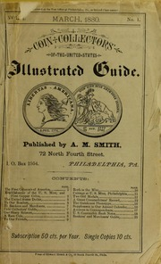 Coin Collectors of the United States Illustrated Guide [vol. I, no. 1]