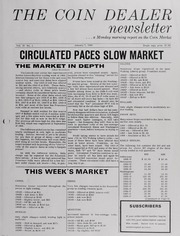 The Coin Dealer Newsletter: 1966