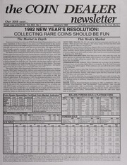 The Coin Dealer Newsletter: 1992