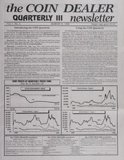 The Coin Dealer Quarterly III Newsletter: 1992