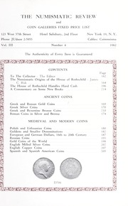 Coin Galleries: The Numismatic Review and Fixed Price List