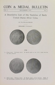 Coin & Medal Bulletin, Vol. 1, No. 6
