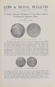 Coin & Medal Bulletin, Vol. 2, No. 1