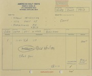 Coin Orders (Records related to 1988 fixed price listing)