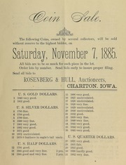 Coin sale ... [11/07/1885]
