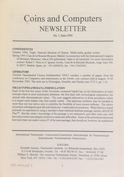 Coins and computers newsletter 3 (June 1994)