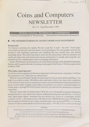 Coins and computers newsletter 7-8 (June/December 1996)