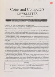 Coins and computers newsletter 16 (December 2001)