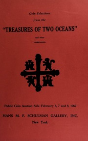 Coin selections from the \Treasures of two oceans\ and other consignments ... [02/06-08/1969]