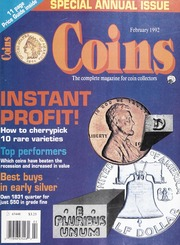 Coins: The Magazine of Coin Collecting - February 1992 (pg. 37)