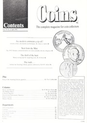 Coins: The Magazine of Coin Collecting - April 1992 (pg. 41)
