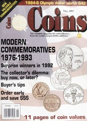 Coins: The Magazine of Coin Collecting - May 1993 (pg. 35)