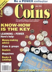 Coins: The Magazine of Coin Collecting - July 1993 (pg. 37)