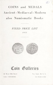 Coins and Medals: Ancient - Mediaeval - Modern also Numismatic Books