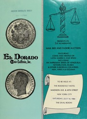 Coins and medals of Latin America and Spain : including an impressive series of Venezuela ... [07/14/1984]