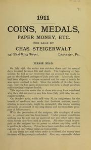 Coins, Medals, Paper Money, Etc., 1911