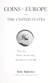 Coins of Europe and the United States