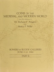 Coins of the Medieval and Modern World from the Collections of Dr. Richard P. Ariango and Henry P. Wilke