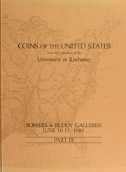 Coins of the United States from the Collection of the University of Rochester