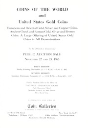 Coins of the World and the United States Gold Coins