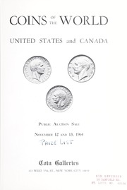 Coins of the World: United States and Canada