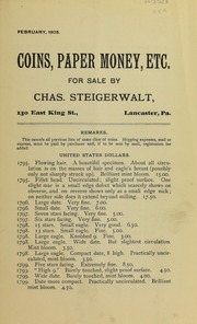 Coins, Paper Money, Etc., February 1905