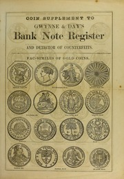 Coin Supplement to Gwynne and Day's Bank Note Register and Detector of Counterfeits
