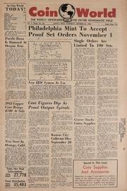 Coin World [10/27/1960]
