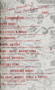Col. Grover Criswell's Price List Extravaganza: Being A Compendium of Historical Items