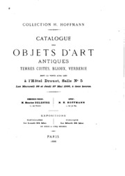 Vol 1-2: Collection H. Hoffmann: catalogue des objets d-art antiques ...