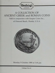 A collection of Ancient Greek and Roman coins, sold in conjunction with Empire Coins, Inc., of Ormond Beach, Florida, U.S.A., [containing] an Attica, Aegina, archaic stater,  ... [10/09/1989]