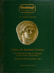 The collection of coins of Ancient Greece, formed by Olga H. Knoepke, of New Town, Connecticut ... [12/10/1986]