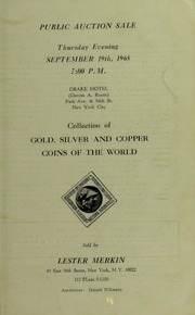 Collection of Gold, Silver and Copper Coins of the World