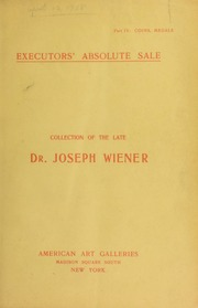 Collection of the late Dr. Joseph Wiener. [04/17/1905]