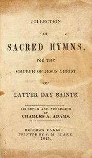 Sacred Hymns (Adams)