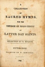 Collection of Sacred Hymns
