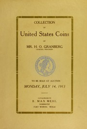 Collection of United States Coins of Mr. H.O. Granberg