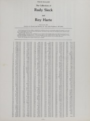 The Collections of Rudy Sieck and Roy Harte