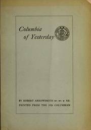 Columbia of yesterday, 1754...