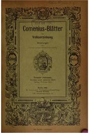Vol 9-10: Comenius-blätter für Volkserziehung