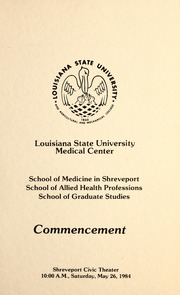 Commencement Program : Louisiana State University Medical