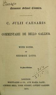 Commentarii De Bello Gallico Caesar Julius Free