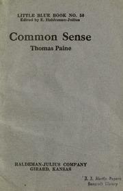 Common Sense Paine Thomas 1737 1809 Free Download