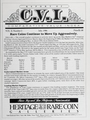 The Comparative Value Index: July 1984