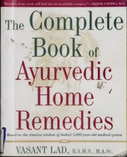 Ayurvedic Home Remedies Books Pdf