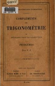 Compléments de trigonométrie et méthodes pour la résolution des problèmes