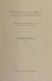Compte rendu 34 (1987)